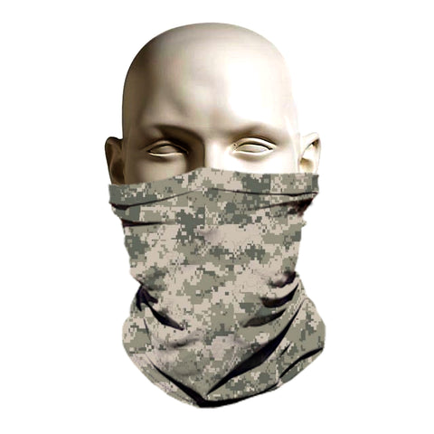 Digital camo army printed ski mask for winter and summer