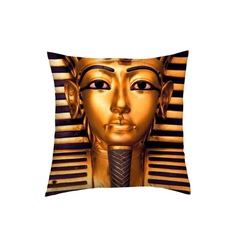 King Pharaoh Throw Pillow for bedroom or living room 12 by 12 inches
