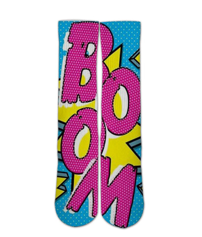 Boom Pop art socks - Awesome elite socks for guys girls adults and kids
