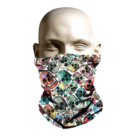 Skull pattern printed balaclava face cover face shield
