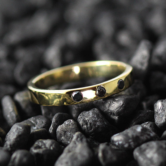 2mm black diamond wedding band