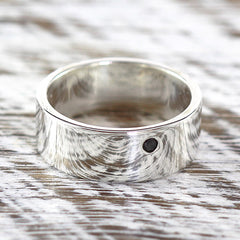 black dimaond ring