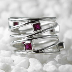 dainty ruby ring