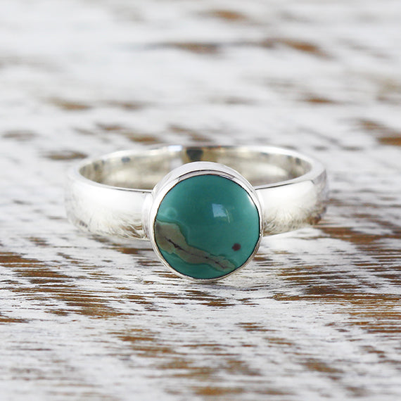 Turquoise Ring Silver For Women Sterling Blue Green Engagement Rings