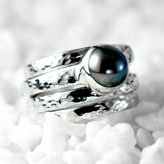 pearl wedding band