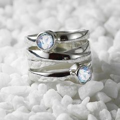silver jewellery rainbow moonstone