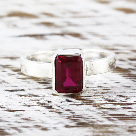 silver ruby ring