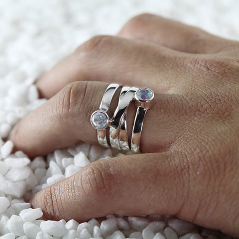 womens silver rings