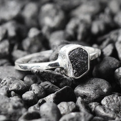 uncut black diamond ring