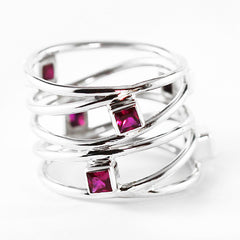 womens ruby ring