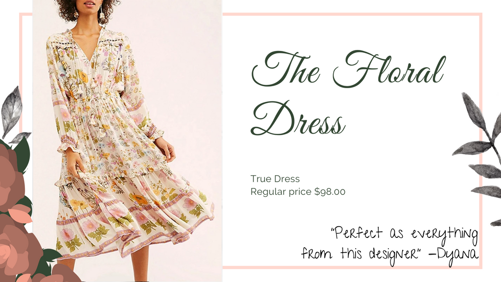 The 8 dresses every woman should have, floral dress, ShoptheKei.com