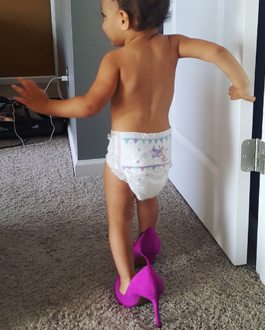 toddler wearing high heels, Nyaeli Kucera, baby clothes, shopthekei.com