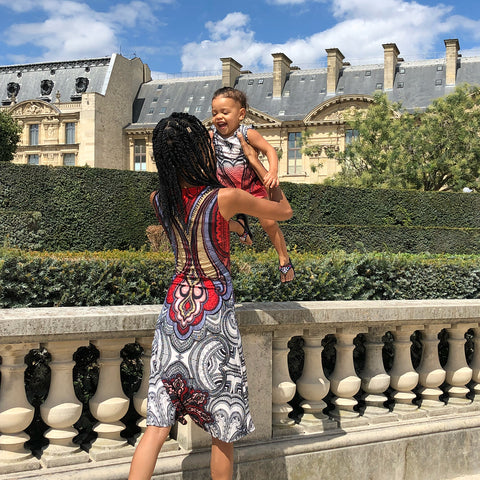 Toddler in Paris, My toddler and I playing in Jardin des Tuileries, I made our mom and baby matching outfits, ShoptheKei.com
