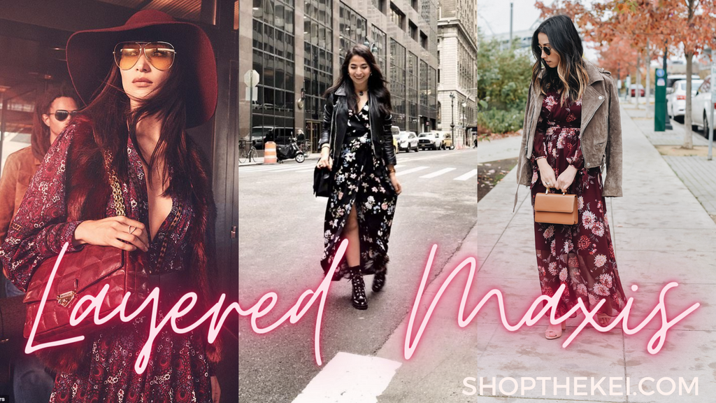Layered Maxis Fall 2020 Fashion Trends at ShoptheKei.com