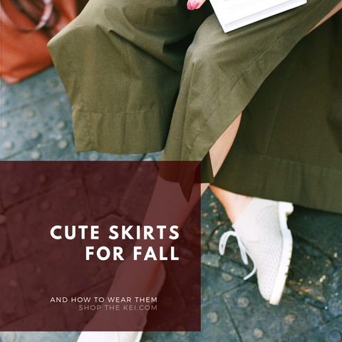 Cute Skirts for Fall and how to wear them. ShoptheKei.com