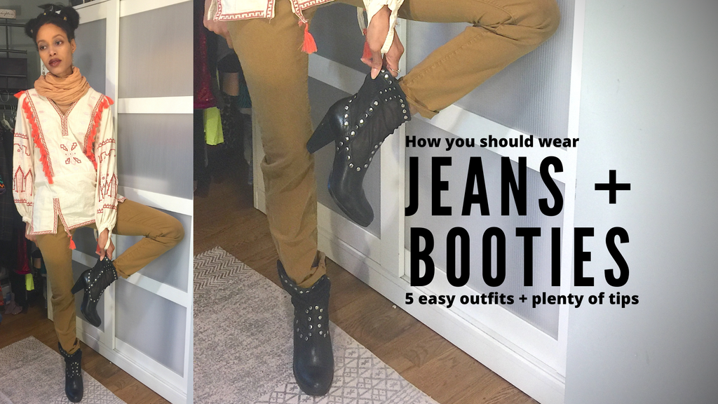 How to wear jeans with booties