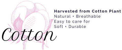Cotton harvested from cotton plant. Natural and breathable. Easy care. Soft and durable. ShoptheKei.com