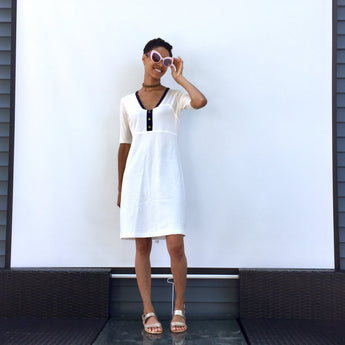 Cara dress, a refreshing cotton tennis dress is designed for us sporty ladies looking to flip your summer outfits. ShoptheKei.com