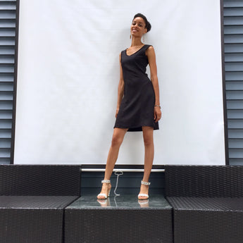 You are incredibly stylish in our refreshing, chic black sundress! Heat up the party. Olivia flare dress is perfect dress for summer outings. ShoptheKei.com