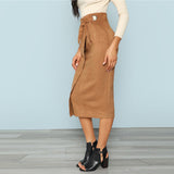 Suede Skirt [TAGs]- ShoptheKei.com