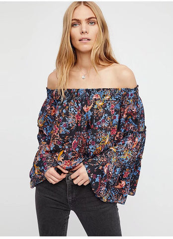 5 Summer tops and blouses we love. Black floral summer top. Let us help pack your bags with our most fashionable cute tops for summer. ShoptheKei.com