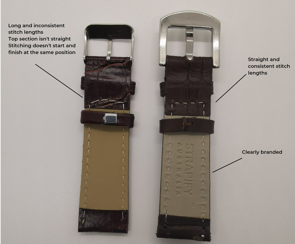 3 Shockingly EASY rules to Spot a Cheap Leather Watch Strap!