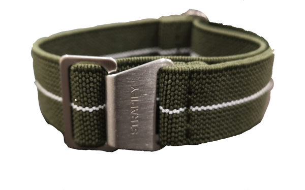 Marine Nationale - Army Green With White Stripe