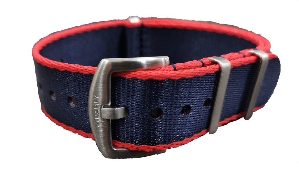 Supreme NATO - Navy Blue with Red Trim - Strapify Australia