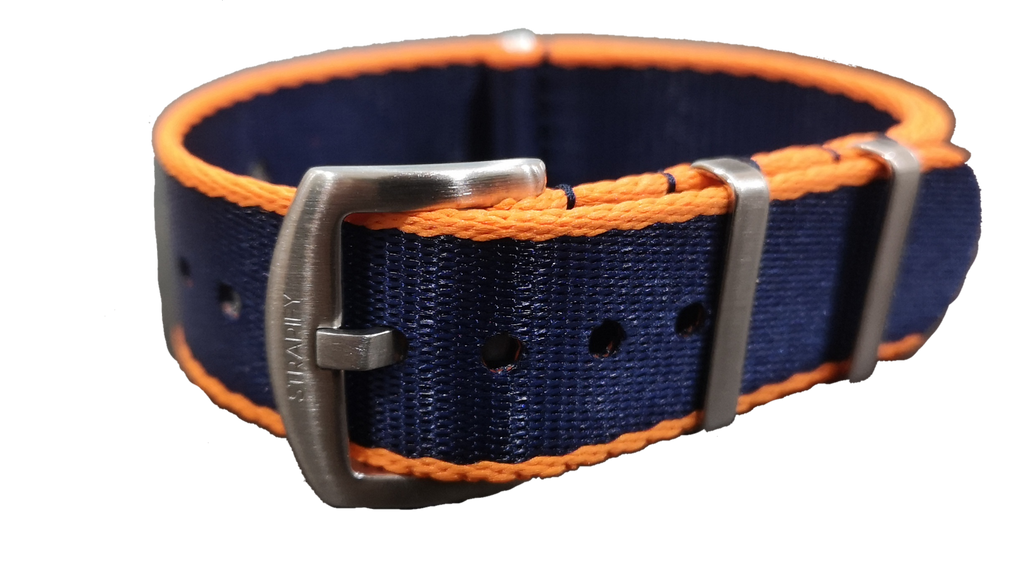 Supreme NATO - Navy Blue with Orange Trim - Strapify Australia