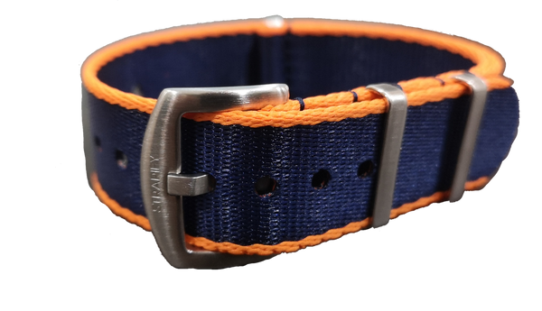 Supreme NATO - Navy Blue with Orange Trim