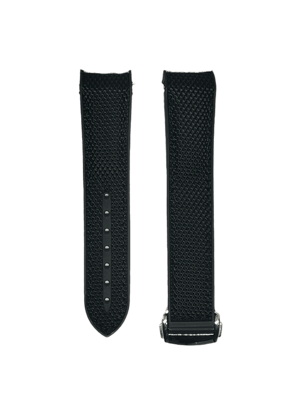 [Curved] King Hybrid Rubber - Black with Deployant Clasp