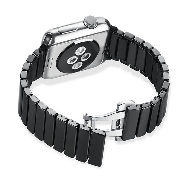 Ceramic Bracelet (Black) - Apple Watch Strap - Strapify Australia