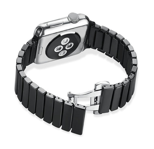 Ceramic Bracelet (Black) - Apple Watch Strap