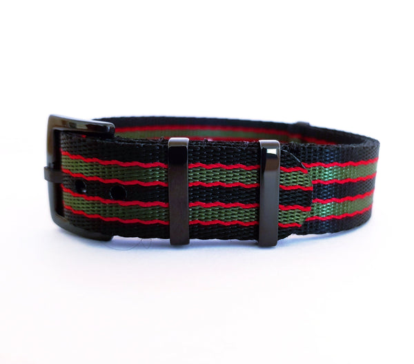 Supreme NATO - Black/Green/Red (PVD Black Hardware)