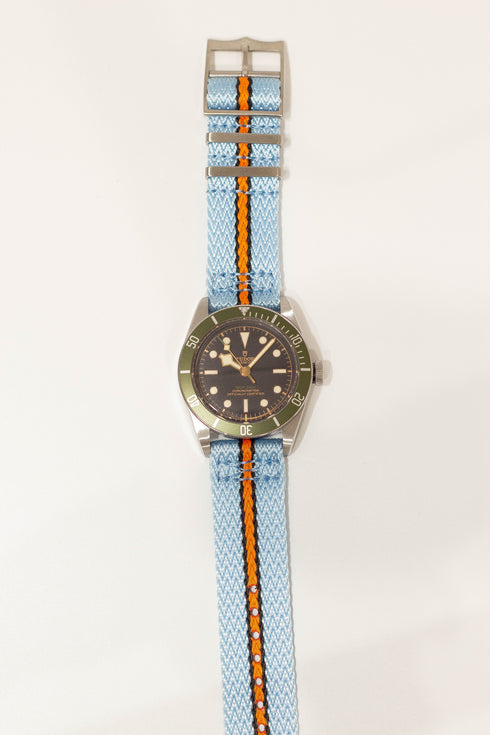 [Quick Release] Sharktooth NATO - Sky Blue / Black / Orange