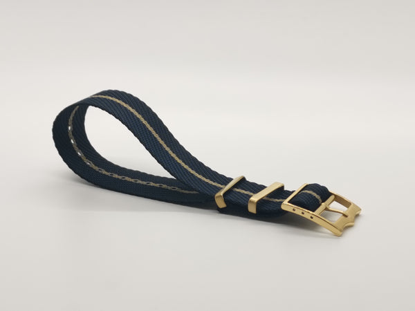 Cross NATO (Adjustable) - Night Blue / Wheat (Gold Hardware)