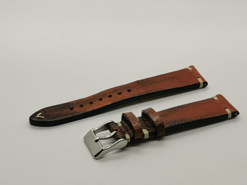 [Quick Release] Vintage Knotted Smoked Brown - Top-Grain Leather