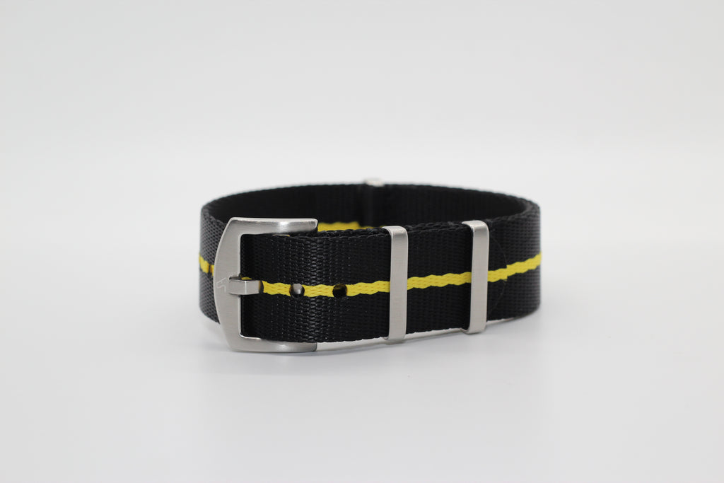 Supreme NATO - Black with Yellow Stripe - Strapify Australia