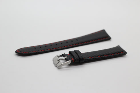 [Quick Release] Sailcloth - Black | Red Stitching