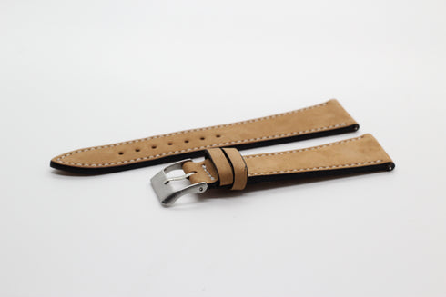 [Quick Release] Brown | White Stitching - Nubuck Leather