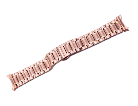 [Curved] Steel Bracelet - Rose Gold