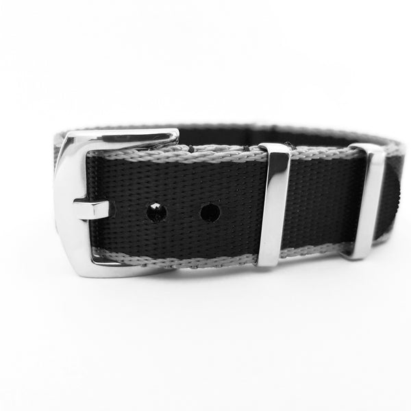 Supreme NATO - Black & Silver Grey Trim (Seat-Belt NATO)