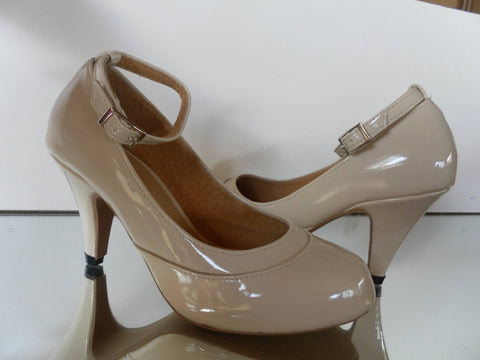 leather court shoes with ankle strap