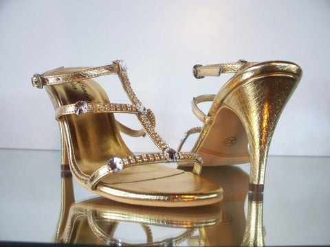 stylish gold sandals