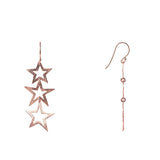 Triple Open Star Earring