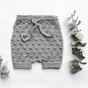 popcorn bloomers - grey