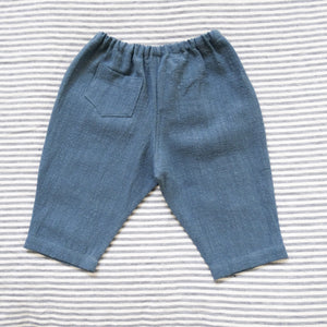 Linen Pants - Denim Blue