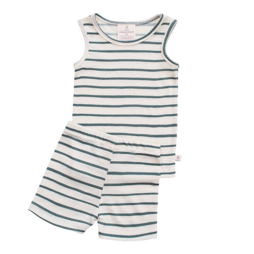 Chasing Windmills Short Johns Set - Sea Pine Stripe