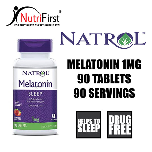 Natrol Melatonin Fast Dissolve 1mg (90 Tablets)