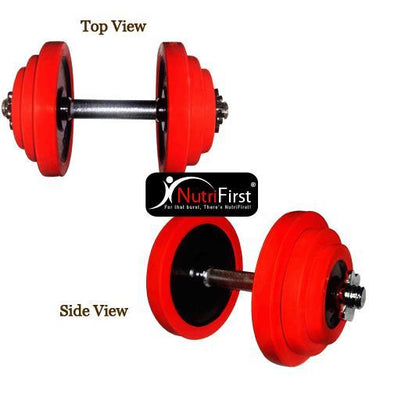 O'Bells Dumbbell Set with Rubber Ring (20Kg)
